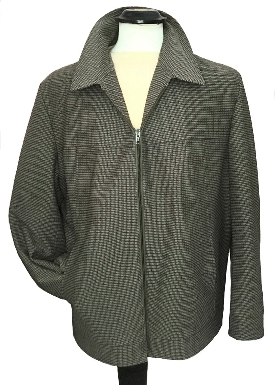 mens vintage Mod, checked  zip front bomber jacket by Dunn & Co