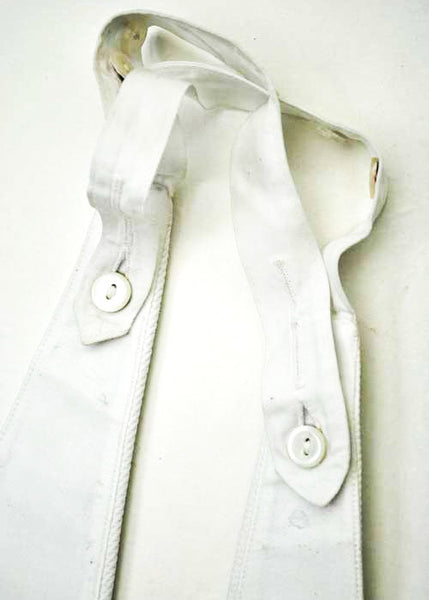 1930s Vintage White Starched Marcella Mess Waistcoat • Formal Tuxedo Vest • 40""