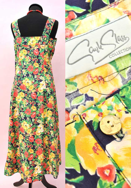 colourful flowers vtg summer dress