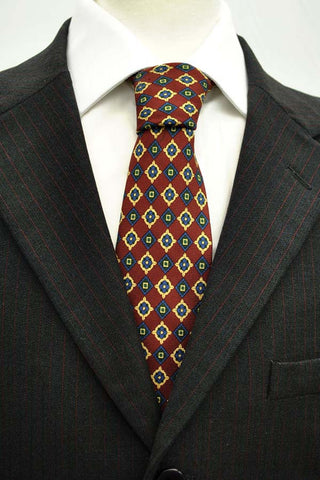 gieves and hawkes tie in burgundy and blue