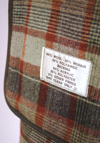 "1960s Men's Vintage Mohair Peacoat Overcoat 42/46"" Chest"