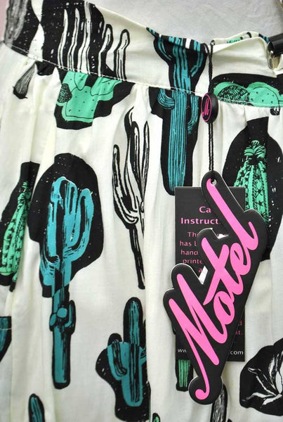 Modern Retro Cactus Skirt by Motel Rocks • BNWT
