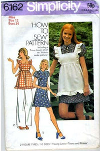 vintage apron sewing pattern Simplicity 6162