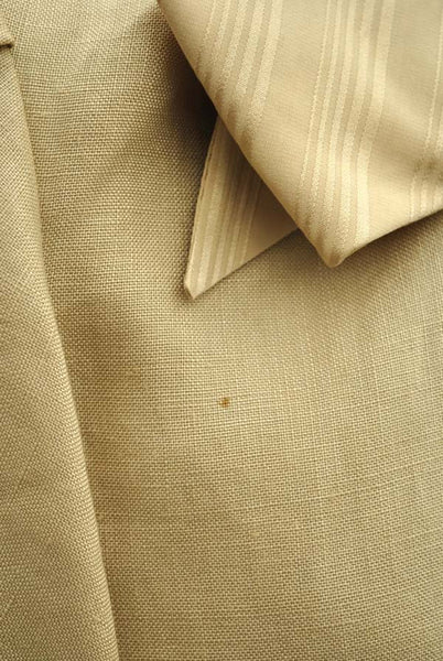 Women's Vintage 80s Beige Linen Suit Bespoke Made at Valentino Studio Italy