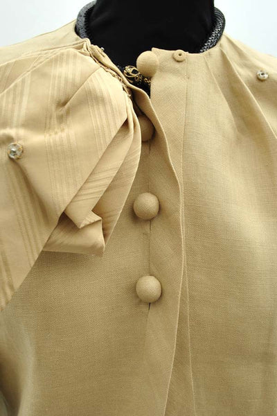 vintage designer couture, Valentino made in Italy linen suit