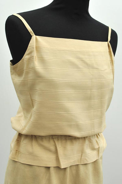 vintage 80s neutral beige silk camisole top