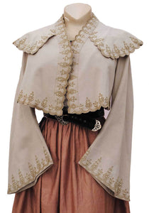 buy an early 1800s cashmere caped jacket, genuine Victorian wool embroidered outerwear.