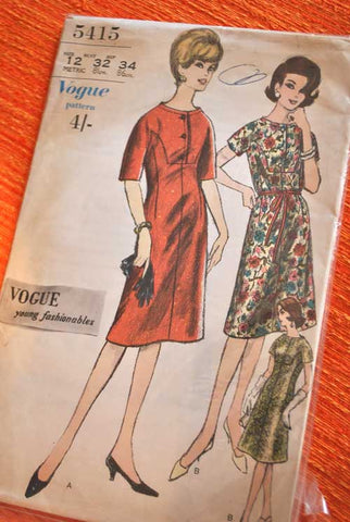 Vogue 5415 Dressmaking Pattern