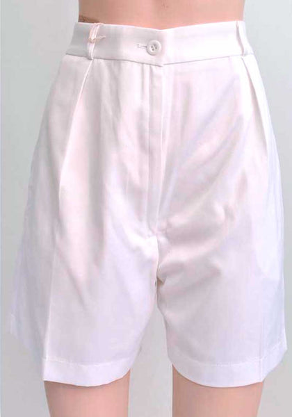 1940s style Womans Royal Navy White Shorts • White WRN