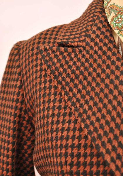 Women's Vintage YSL Yves Saint Laurent Tweed Jacket • Size 40B • Copper Black