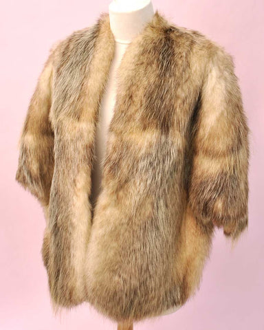 Vintage Old Hollywood Lush Norwegian Fox Fur Stole • Red Carpet • Bridal • Wedding • Volup
