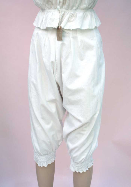 genuine victorian or earlier bloomers, white linen