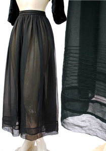 glamgoth skirt of dreams. sheer black silk georgette sheer skirt
