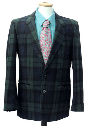 mens vintage blackwatch tartan jacket