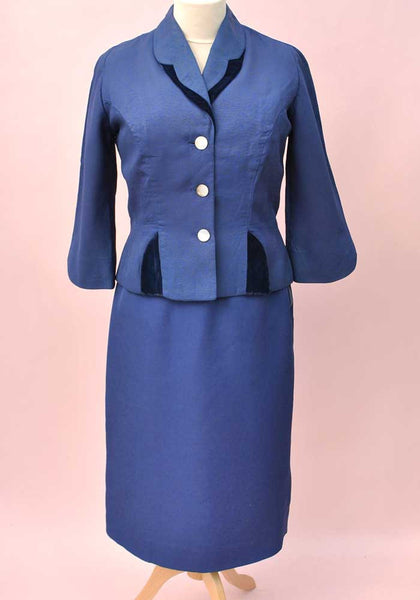 vintage ladies fitted suit, bracelet length sleeves, goodwood, twinwood attire