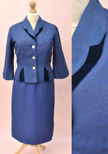 women's 50s tailored suit by heiress, hourglass figure with pencil skirt