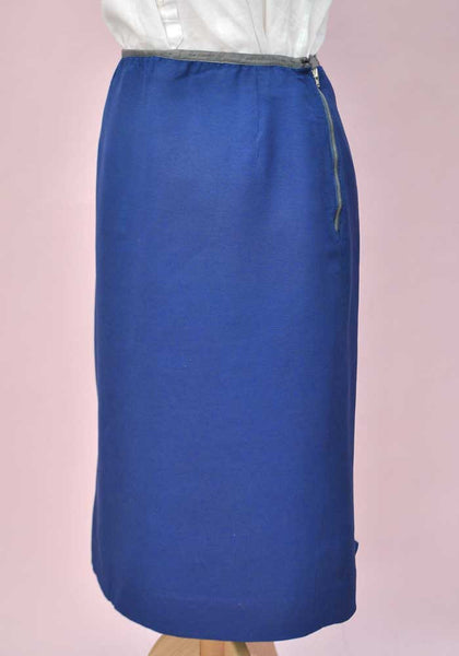 midi length fitted pencil skirt
