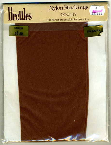 1970s Vintage Brettles County Nylon Stockings