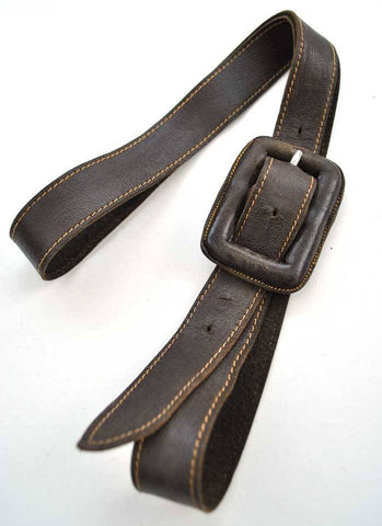 Vintage 30s super soft brown leather belt