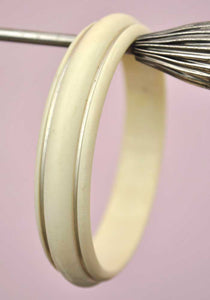 Vintage Deco Gold Painted Celluloid Galalith Bangle