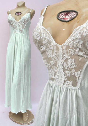 charlotte hilton mint green silk nightgown