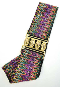 Colourful Retro rockabilly cincher belt