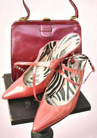 escada coral pink high heel shoes