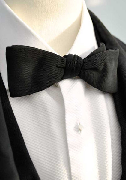 vintage deco black clip on bow tie