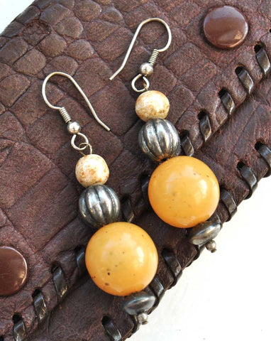 butterscotch amber earrings