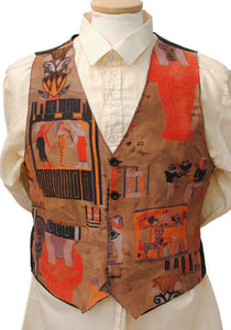 ancient egyptian themed vest, waistcoat