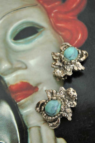Vintage beetle bug earrings