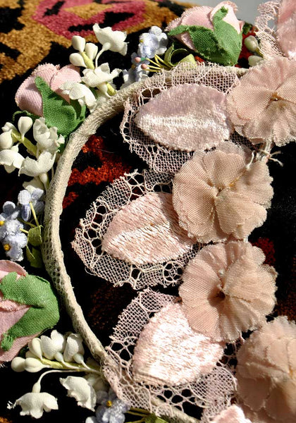 vintage millinery flower crown
