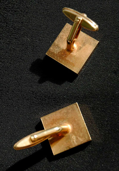 1950s Goldtone Square Shaped Cufflinks