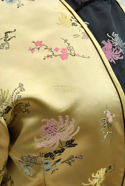 vintage gold satin bolero jacket
