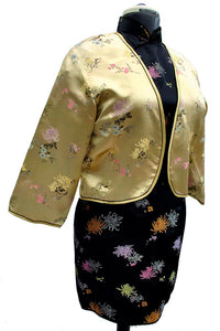 vintage 1960s gold brocade chinese bolero evening jacket