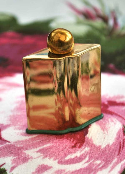 deco vintage gold coty perfume scent bottle