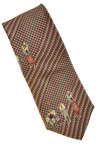 silk neck tie by van heusen with 1920s golfing figures