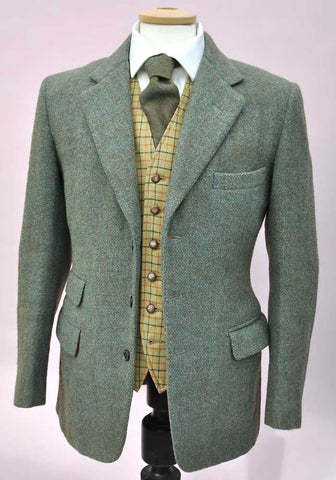 vintage green keepers tweed jacket