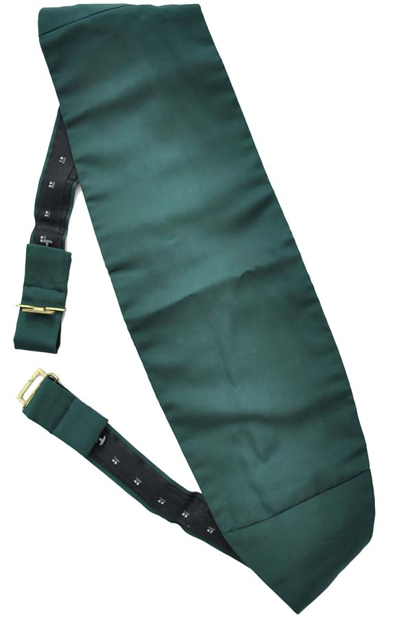 vintage adjustable emerald green cummerbund belt by moss bross