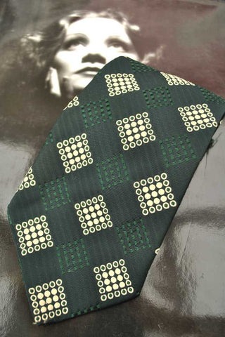 Vintage 70s Bottle Green Wide Neck Tie • Kipper Tie • Textura