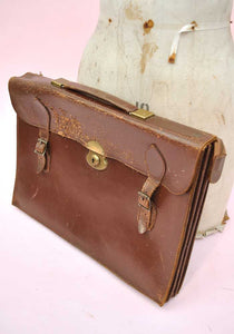 vintage traditional leather briefcase