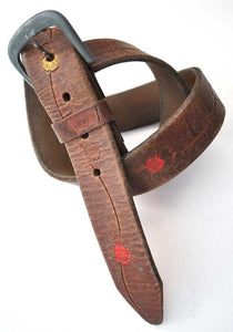 1970s tooled leather Levis belt