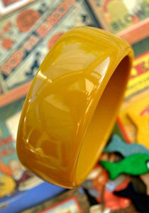 stylish rockabilly mustard yellow plastic bangle