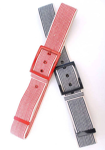 vintage 60s striped nautical style canvas belt