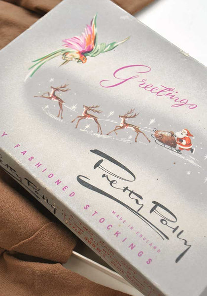 pretty polly christmas box packaging for seamed stockings