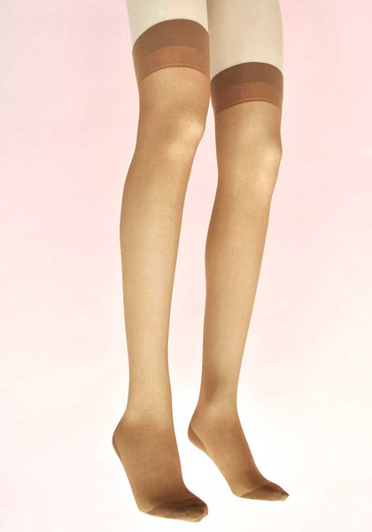 Original Vintage Outline Fully Fashioned Stockings • Cuban Heel • Pretty Polly Box