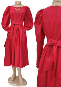 80s laura ashley balloon sleeve dress