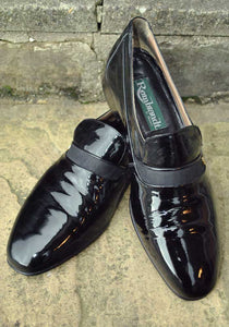 black patent dress shoes for men