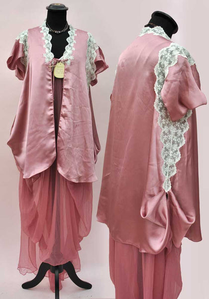 vintage designer pink peignoir for harrods