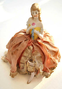 vintage collectible deco porcelain half doll